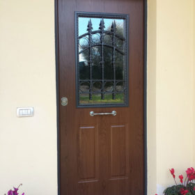 porta blindata con vetro