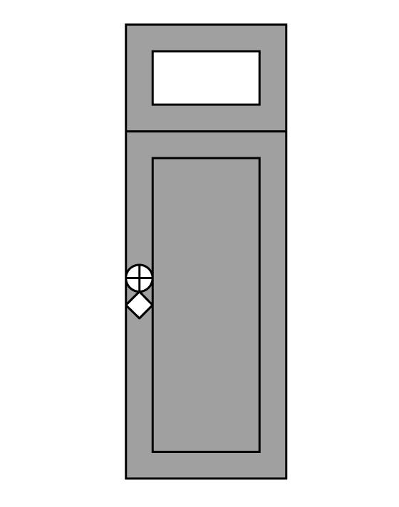 Sopraluce per porta blindata da 20cm 30cm o 40cm blindo - Sopraluce porta ...
